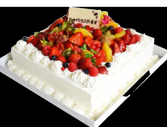 パーティケーキ正方形